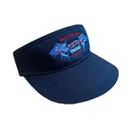 WHITE'S TACKLE GOLF VISOR - AMERICAN FLAG LOGO